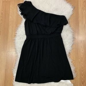 WHITE HOUSE BLACK MARKET Ruffle One Shoulder Dress